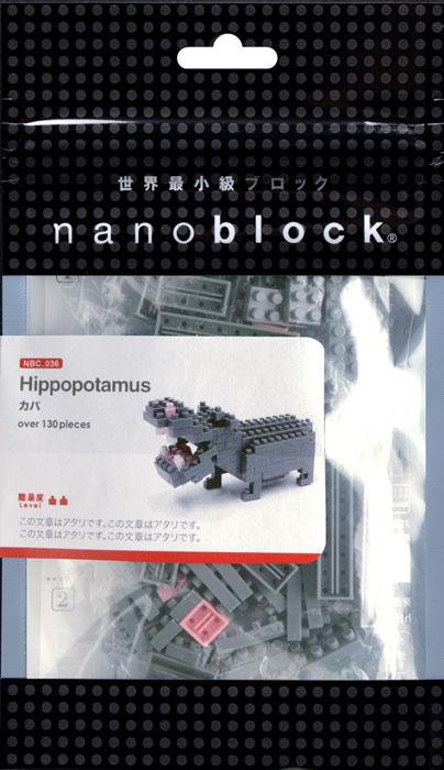 Nanoblock Мини-конструктор Бегемот