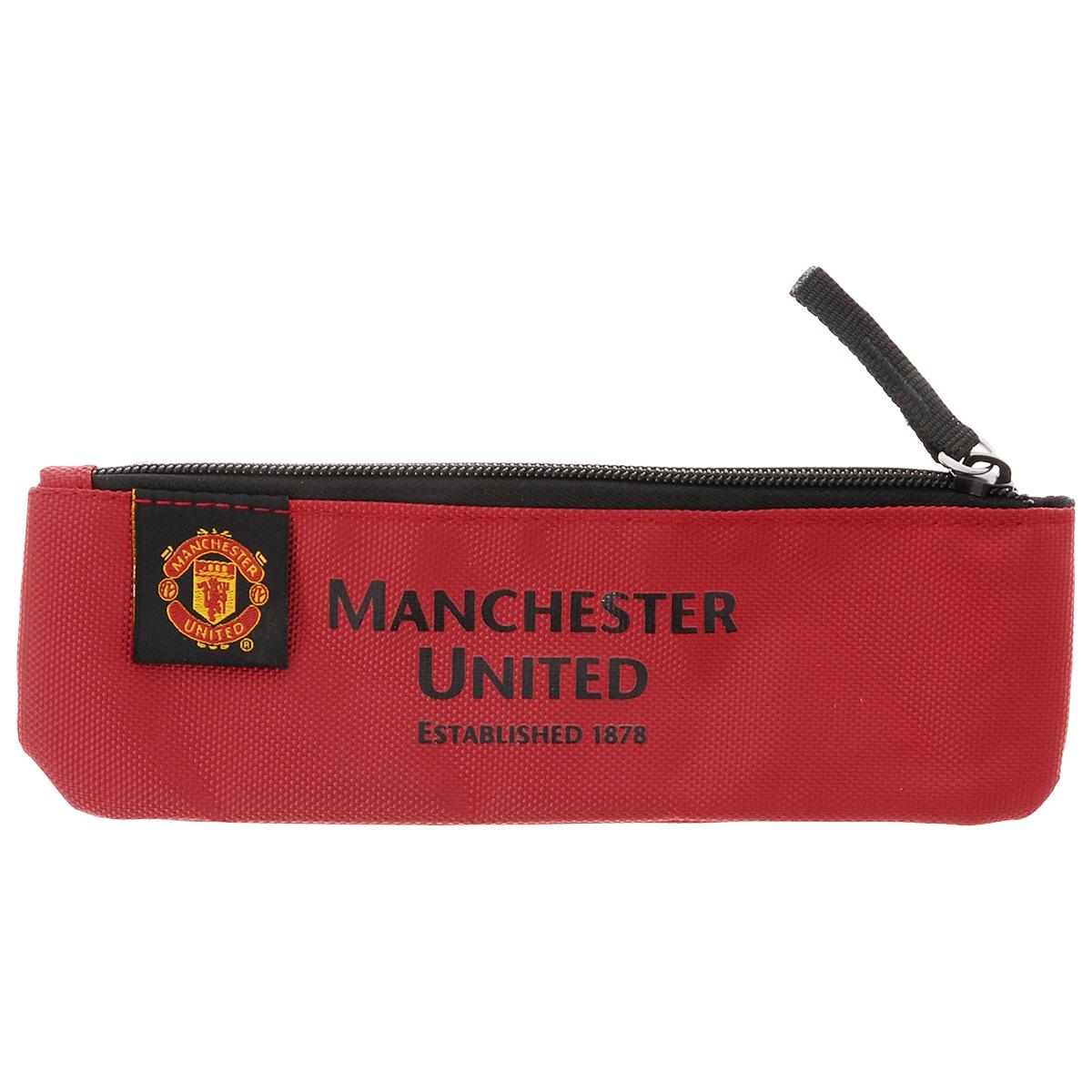 Пенал Manchester United FC, цвет: красный nike nike fc manchester united 2014 15 stadium otc