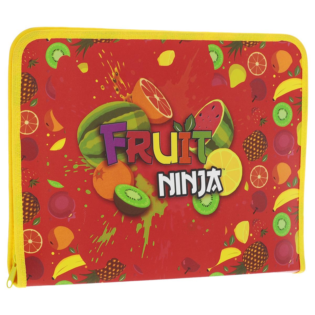 Папка для труда Action! Fruit Ninja, цвет: красный, желтый фартук для детского творчества action fruit ninja с нарукавниками цвет оранжевый красный