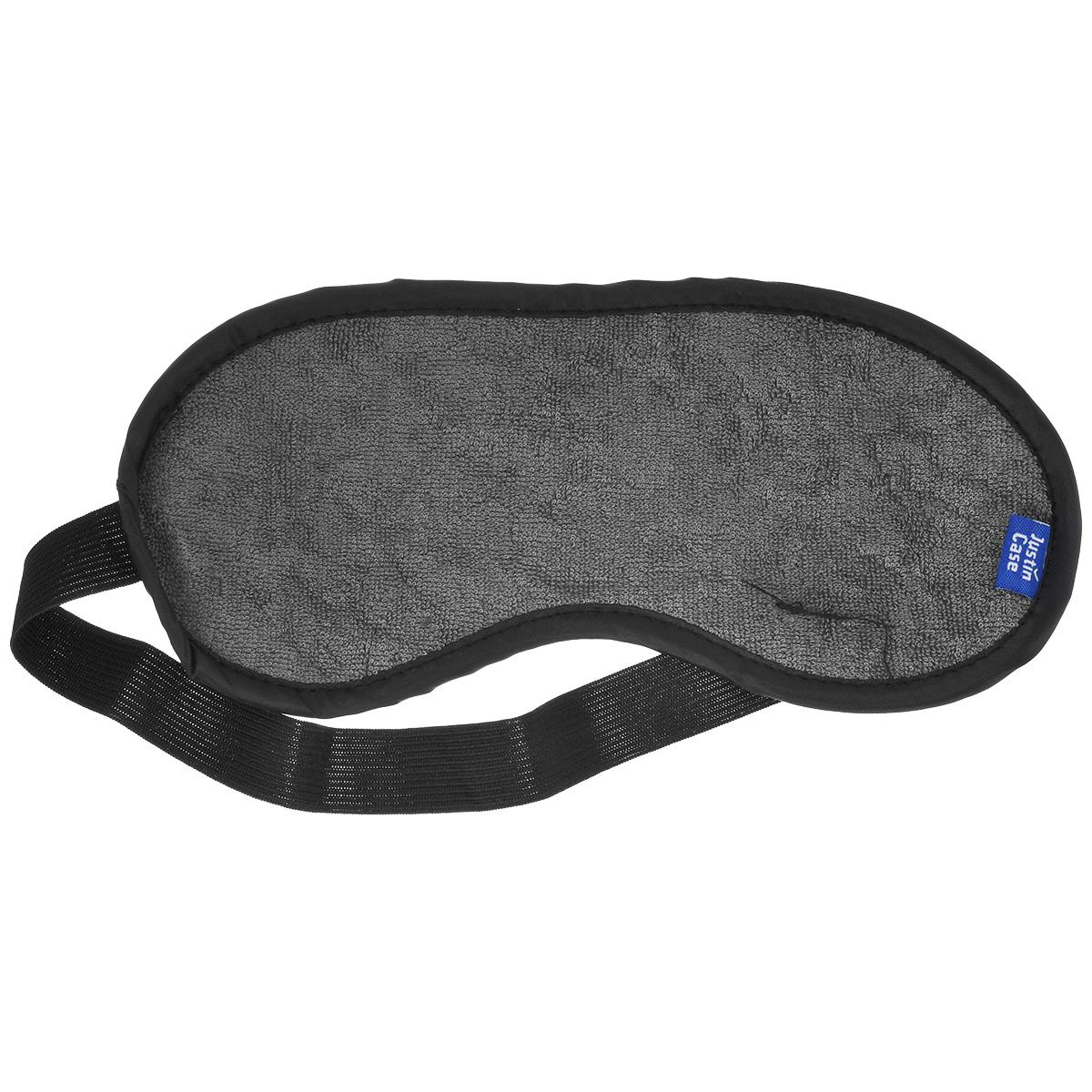 Маска для сна JustinCase, цвет: серый, черный маска маска для сна в путешествии маска сна компактность пригодно для носки удобный отдых в дороге 1шт для путешествия