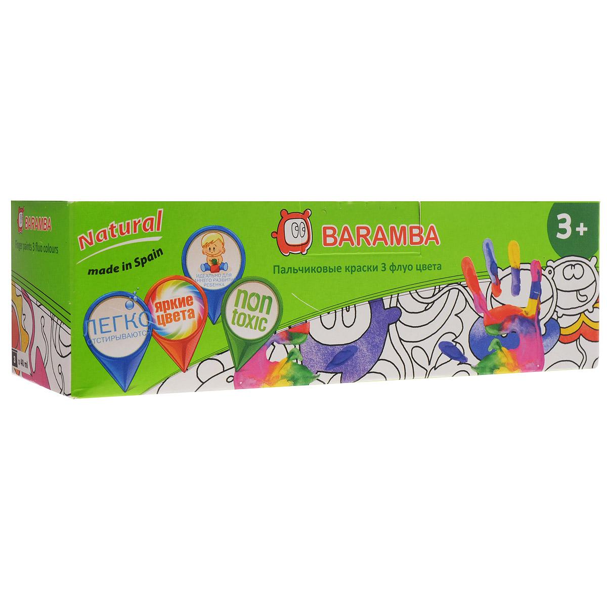 Краски пальчиковые Baramba, 3 цвета. B00553B00553Краски пальчиковые Baramba, 3 цвета представляют собой набор красок желтого, розового и светло-зеленого флуоресцентных цветов. Густые краски на водной основе, не вытекающие из баночки. Легко смываются, быстро сохнут. Рисовать можно пальцами, ладонями, ступнями, кисточкой.Идеальны для раннего развития ребенка.Емкость баночки: 40 мл.