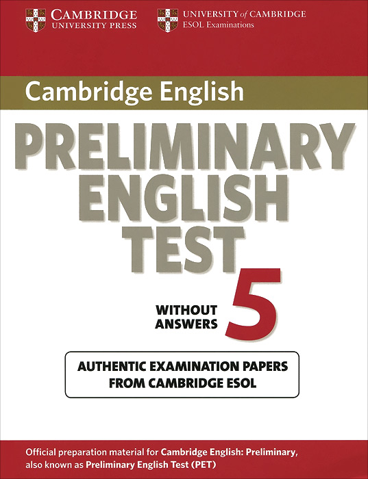 Preliminary English Test 5: Student's Book without Answers cambridge english preliminary 7 student s book with answers