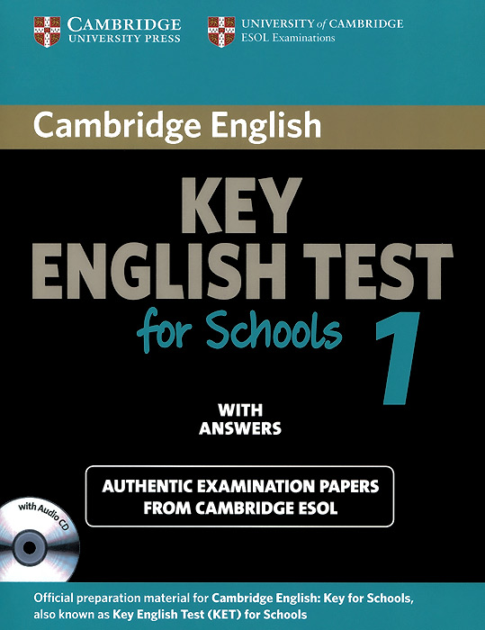 Key English Test for Schools 1: Student's Book with Answers (+ CD) 3m f9473pc vhb adhesive transfer tape with adhesive 100mp clear 10mil 3inx36yd pack of 1
