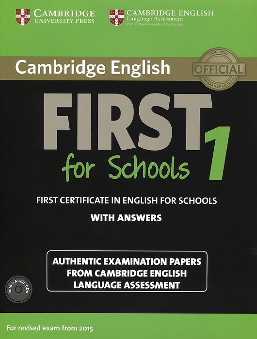 First for School 1: Student's Book with Answers (+ 2 CD) cambridge grammar for pet book with answers 2 cd