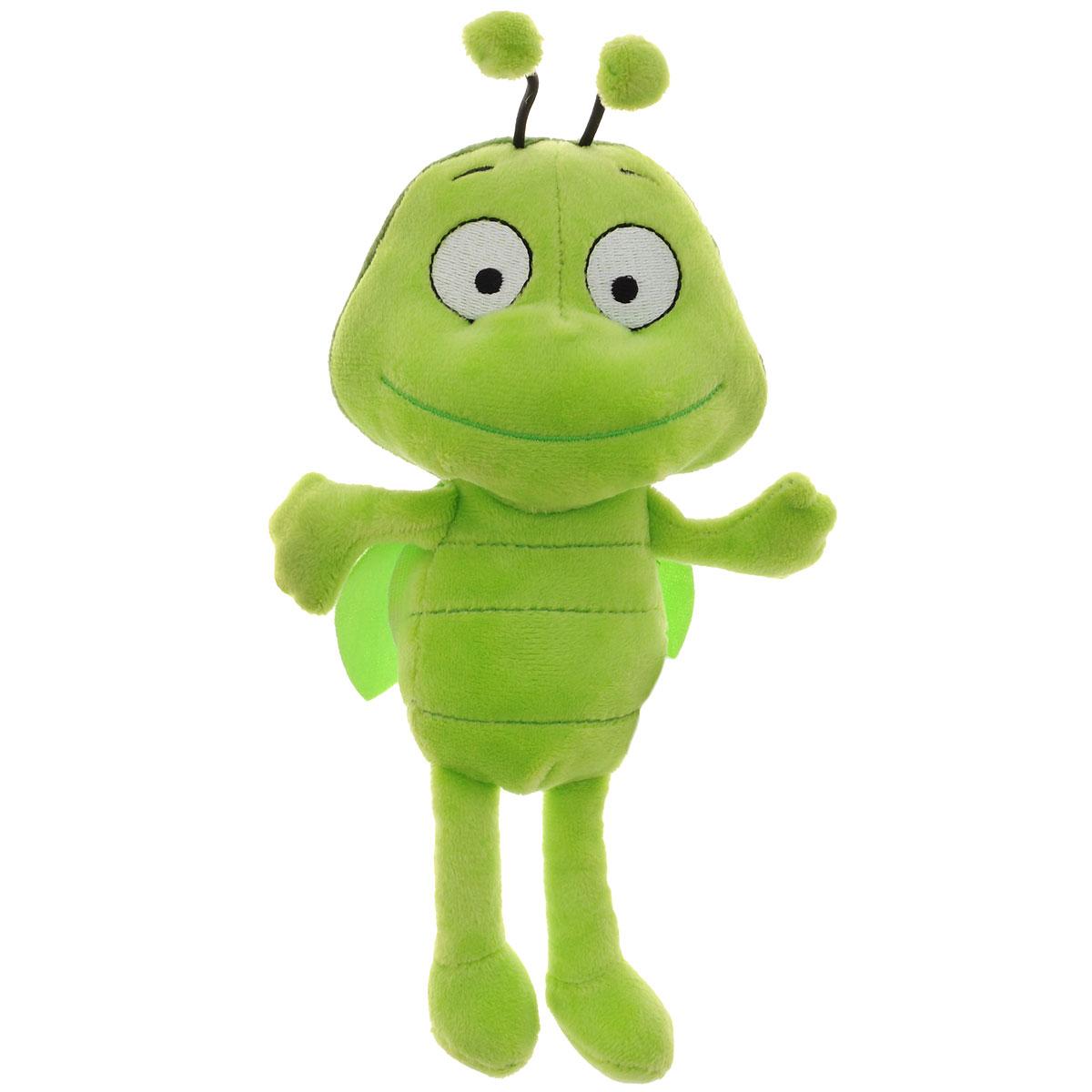 """Игрушка мягкая Пчелка Майя """"Бен"""", цвет: зеленый, 22 см. GT6453"""