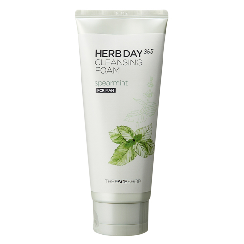 The Face Shop очищающее средство с экстрактом мяты для мужчин Herb Day 365, 170 мл пенка the face shop herb day 365 cleansing foam spearmint объем 170 мл