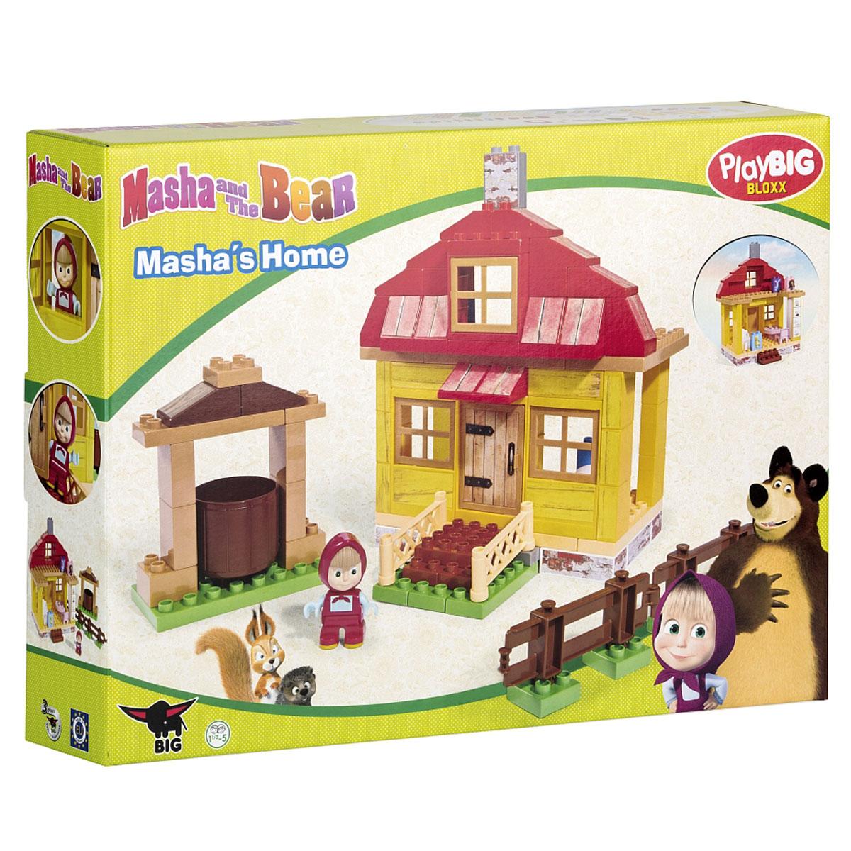 Big Конструктор Маша и Медведь Домик Маши big игрушки