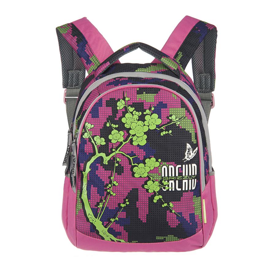Рюкзак городской Grizzly, цвет: фуксия, синий, зеленый, 20 л. RD-659-1/3