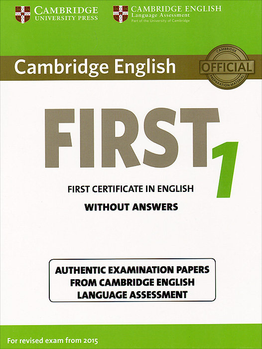 First 1: Student's Book without Answers objective first 4 edition student s book without answers cd rom