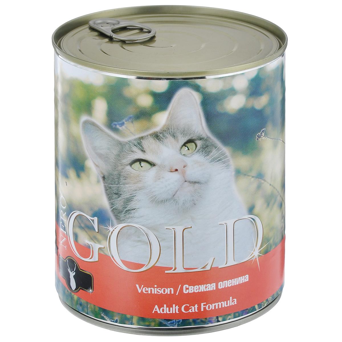 """Консервы для кошек """"Nero Gold"""", свежая оленина, 810 г"""