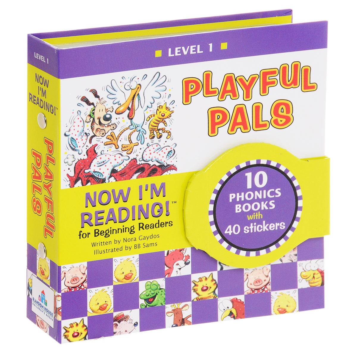 Купить Now I'm Reading! Level 1: Playful Pals (комплект из 10 книг + наклейки),