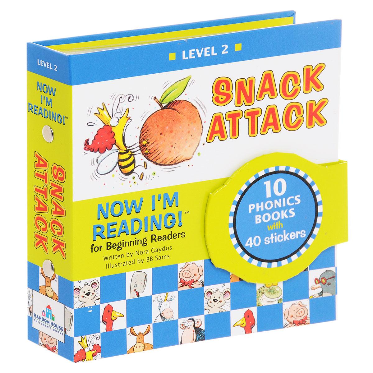 Купить Now I'm Reading! Level 2: Snack Attack (комплект из 10 книг + наклейки),