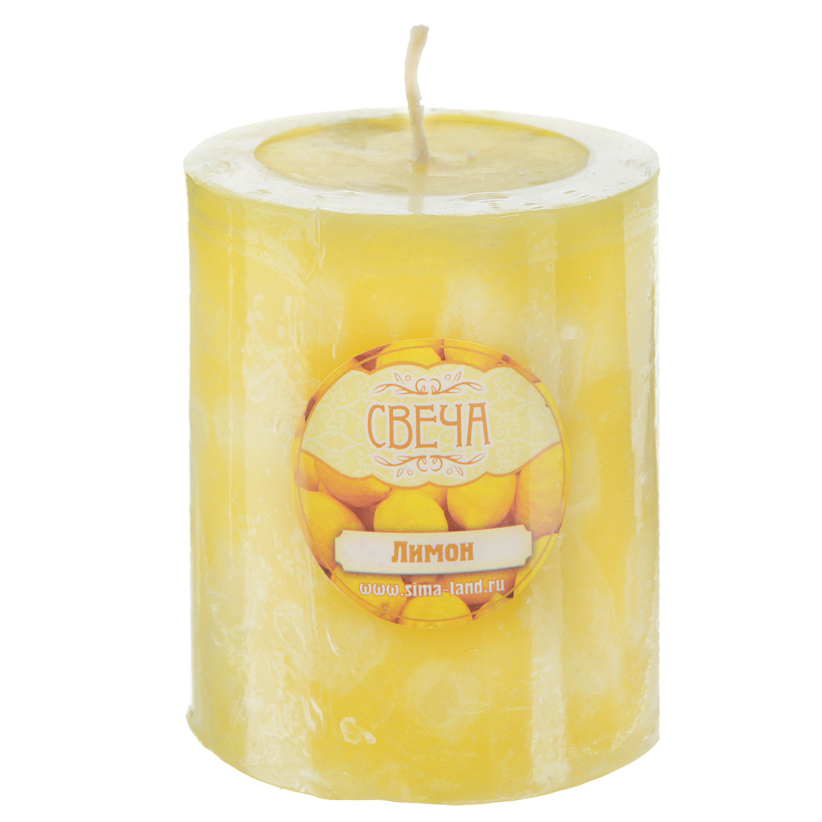 Свеча ароматизированная Sima-land Лимон, высота 7,5 см свеча ароматизированная sima land лимон на подставке высота 6 см