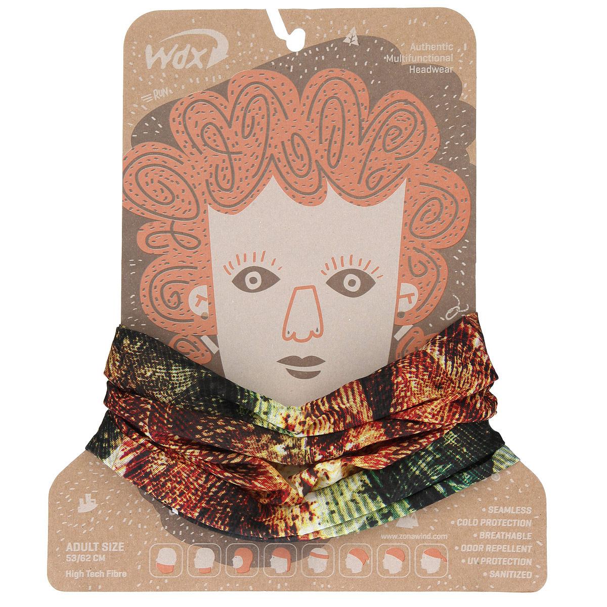 Бандана многофункциональная WindXtreme Wind, цвет: оранжевый, зеленый (1274). Размер 53/62УТ-00006339_FishingМногофункциональный головной убор WindXtreme Wind - это очень современный предмет одежды, который защитит вас от ветра. Его можно использовать как: шарф, шейный платок, бандану, повязку, ленту для волос, балаклаву и шапку. Подходит для занятий бегом, походов, скалолазания, езды на велосипеде, сноуборда, катания на лыжах, мотоциклах, игры в хоккей, а так же для повседневного использования.Бандана не имеет швов, а материал из микроволокна позволяет коже дышать, гарантирует дополнительные тепло и комфорт, отведение влаги, быстрое высыхание. Изделие очень эластично и принимает практически любую форму. Обладает антибактериальным эффектом.Уважаемые клиенты!Размер, доступный для заказа, является обхватом головы.