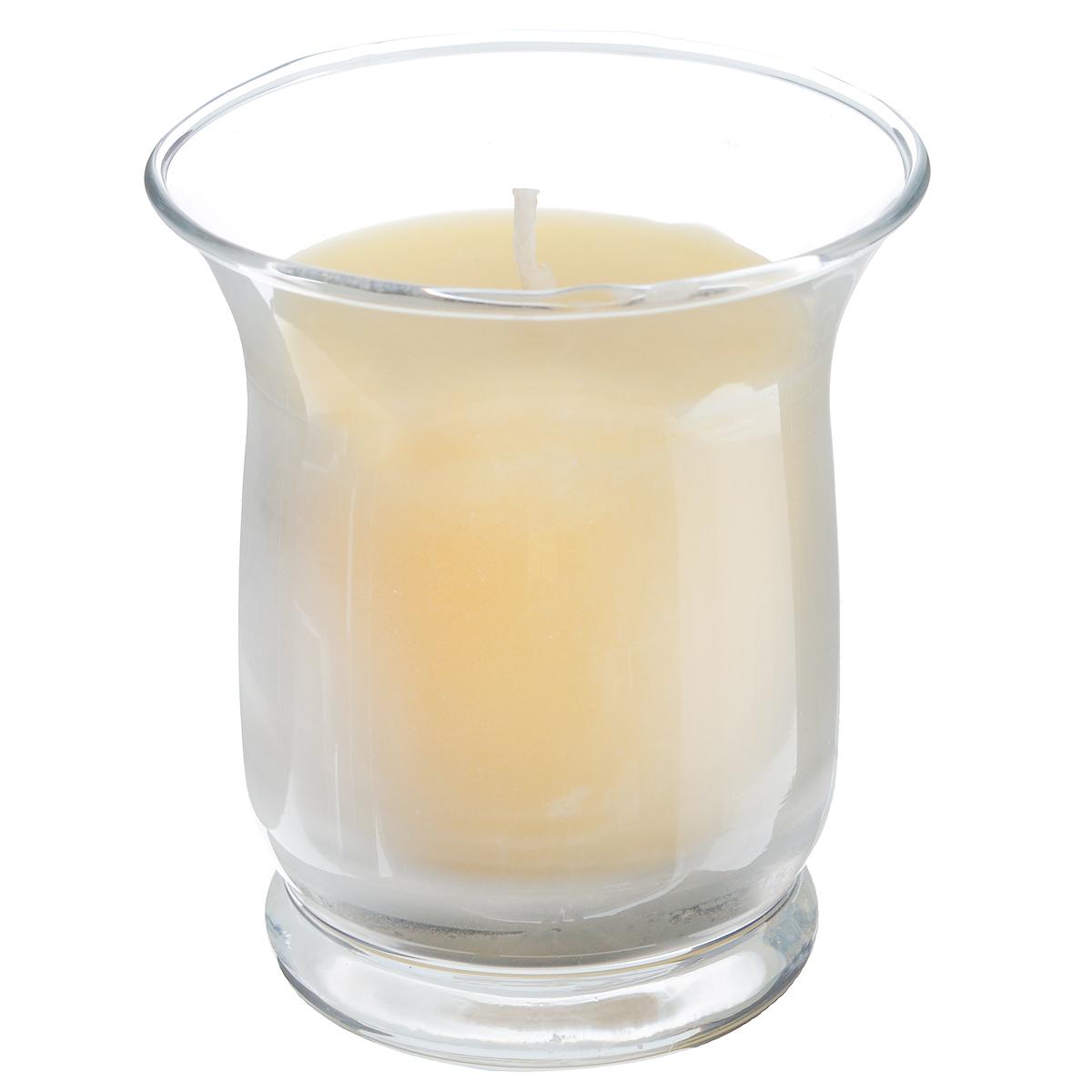 """Ароматизированная свеча в стеклянном стаканчике Sima-land """"Романтика"""" изготовлена из цветного воска. Изделие отличается оригинальным дизайном и приятным ароматом ванили. Такая свеча может стать отличным подарком или дополнить интерьер вашей комнаты."""