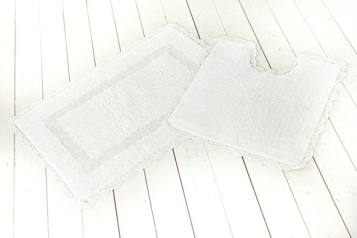 Экологически чистая продукция с современным дизайном, которая без проблем впишется в интерьер дома. 100% хлопок   УВАЖАЕМЫЕ КЛИЕНТЫ! Обращаем ваше внимание, на тот факт, что коврик для туалета в комплект не входит.