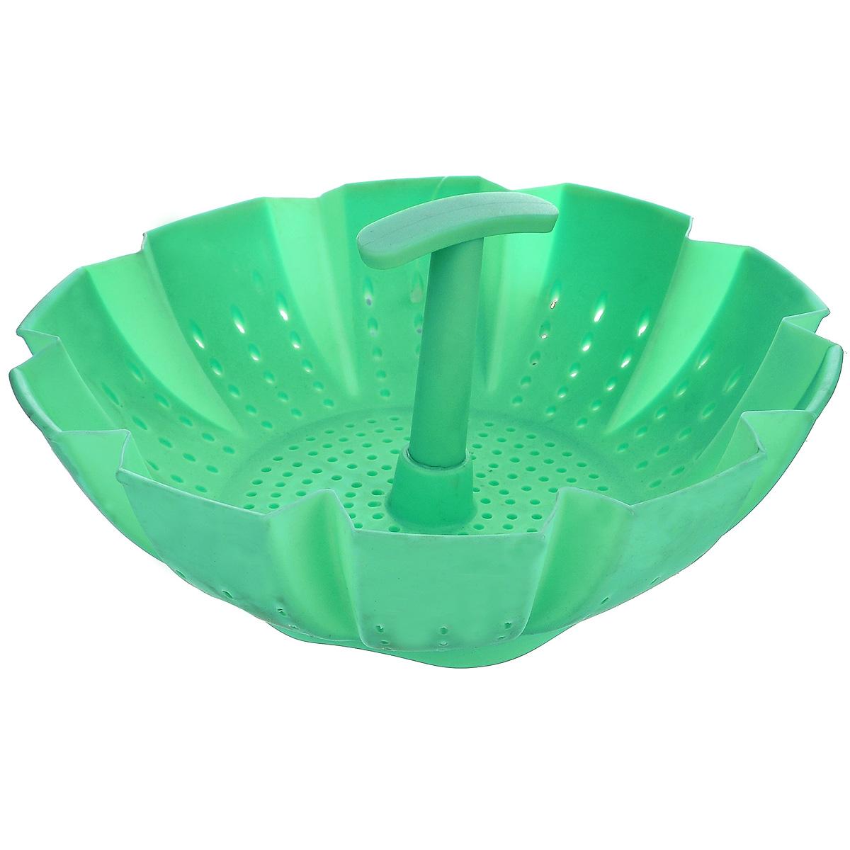 Пароварка Mayer & Boch, цвет: зеленый, 900 мл21984Пароварка Mayer & Boch выполнена из высококачественного силикона и предназначена для готовки на пару и разогрева. Изделие можно безбоязненно помещать в морозильную камеру, холодильник, микроволновую печь, посудомоечную машину и духовой шкаф. Благодаря материалу пароварка не ржавеет, на ней не образуются пятна.Диаметр по верхнему краю: 22 см.Высота: 10 см.