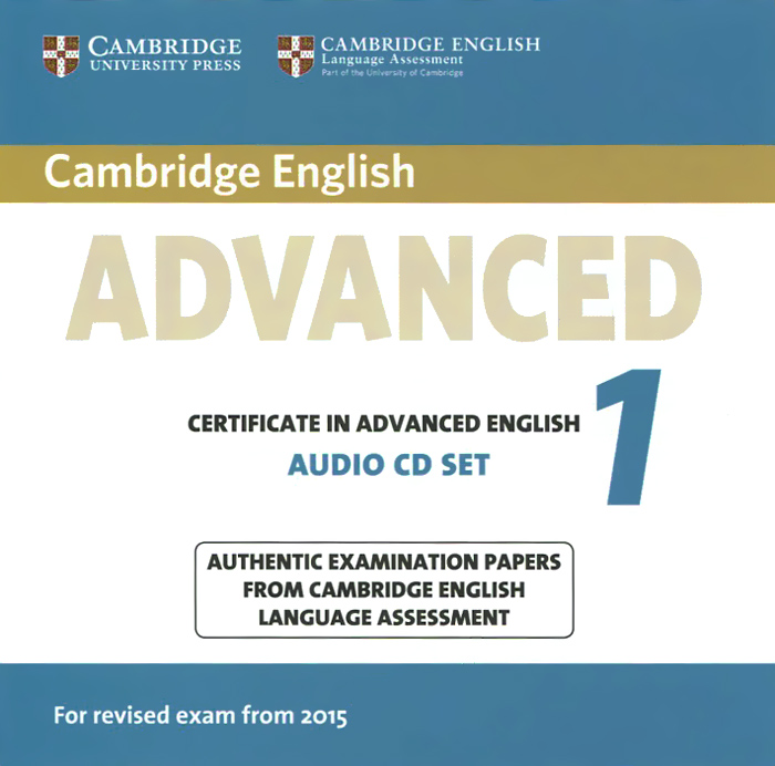 Certificate in Advanced English 1 (аудиокурс на 2 CD) cambridge preliminary english test 6 self study pack student s book with answers and audio cds 2