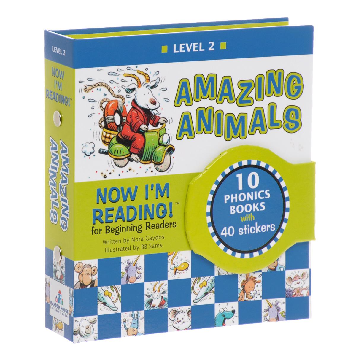 Купить Now I'm Reading! Level 2: Amazing Animals (комплект из 10 книг + наклейки),