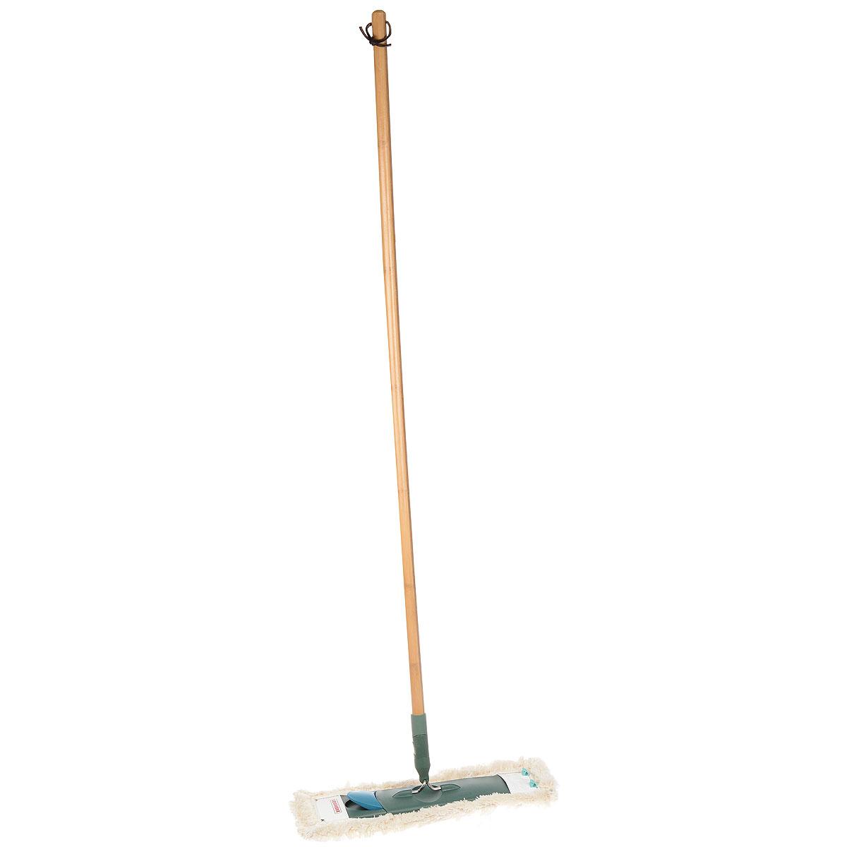 Claro EcoPerfect Швабра для пола55271Швабра с бамбуковой ручкой (135 см). Удобна и проста в эксплуатации. Не требует специального ведра для отжима. Имеет насадку с большим содержанием хлопка и высокой степенью впитывания воды и грязи.Ширина рабочей поверхности 42 см.Подходит сменная насадка Eco Perfect арт. 55272 и Profi.
