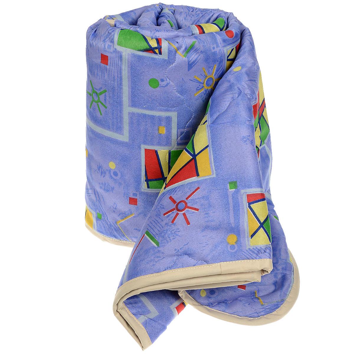 Одеяло всесезонное OL-Tex Геометрия, наполнитель: полиэфирное волокно Holfiteks, 140 см х 205 смМХПЭ-15-3_синий, геометрияВсесезонное одеяло OL-Tex Геометрия создаст комфорт и уют во время сна. Стеганый чехол выполнен из полиэстера и оформлен красочным рисунком. Внутри - современный наполнитель из полиэфирного высокосиликонизированного волокна Holfiteks, упругий и качественный. Холфитекс - современный экологически чистый синтетический материал, изготовленный по новейшим технологиям. Его уникальность заключается в расположении волокон, которые позволяют моментально восстанавливать форму и сохранять ее долгое время. Изделия с использованием Холфитекса очень удобны в эксплуатации - их можно часто стирать без потери потребительских свойств, они быстро высыхают, не впитывают запахов и совершенно гиппоаллергенны. Холфитекс также обеспечивает хорошую терморегуляцию, поэтому изделия с наполнителем из холфитекса очень комфортны в использовании. Одеяло с современным упругим наполнителем Холфитекс порадует вас в любое время года. Оно комфортно согревает и создает отличный микроклимат. За одеялом легко ухаживать, можно стирать в стиральной машинке.Рекомендации по уходу:- Ручная и машинная стирка при температуре 30°С.- Не гладить.- Не отбеливать. - Нельзя отжимать и сушить в стиральной машине.- Сушить вертикально. Размер одеяла: 140 см х 205 см. Материал чехла: 100% полиэстер. Материал наполнителя: полиэфирное высокосиликонизированное волокно Holfiteks. Плотность наполнителя: 300 г/м2.