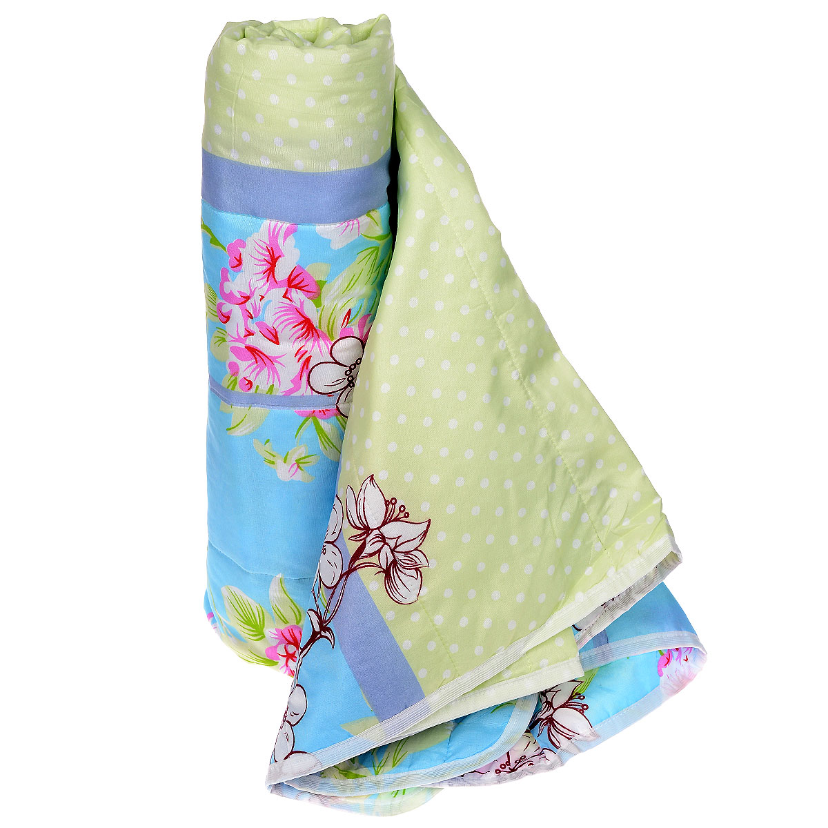 Одеяло летнее OL-Tex Miotex, наполнитель: полиэфирное волокно Holfiteks, 140 х 205 смМХПЭ-15-1Летнее одеяло OL-Tex Miotex создаст комфорт и уют во время сна. Стеганый чехол выполнен из полиэстера и оформлен красочным рисунком. Внутри - наполнитель из полиэфирного высокосиликонизированного волокна Holfiteks, упругий и качественный. Холфитекс - современный экологически чистый синтетический материал, изготовленный по новейшим технологиям. Его уникальность заключается в расположении волокон, которые позволяют моментально восстанавливать форму и сохранять ее долгое время. Изделия с использованием Холфитекса очень удобны в эксплуатации - их можно часто стирать без потери потребительских свойств, они быстро высыхают, не впитывают запахов и совершенно гиппоаллергенны. Холфитекс также обеспечивает хорошую терморегуляцию, поэтому изделия с наполнителем из холфитекса очень комфортны в использовании. Летнее одеяло с наполнителем Холфитекс прекрасно держит тепло, при этом оно очень легкое и уютное. Оно комфортно согревает и создает отличный микроклимат, под ним не будет жарко спать летом. За одеялом легко ухаживать, можно стирать в стиральной машинке.Рекомендации по уходу:- Ручная и машинная стирка при температуре 30°С.- Не гладить.- Не отбеливать. - Нельзя отжимать и сушить в стиральной машине.- Сушить вертикально. Размер одеяла: 140 см х 205 см. Материал чехла: 100% полиэстер. Материал наполнителя: полиэфирное высокосиликонизированное волокно Holfiteks. Плотность: 100 г/м2.