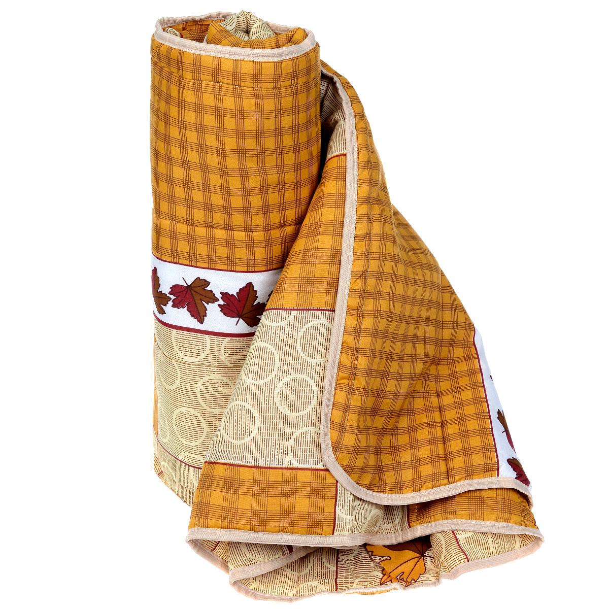 Одеяло летнее OL-Tex Miotex, наполнитель: полиэфирное волокно Holfiteks, 140 см х 205 смМХПЭ-15-1 _коричневый с листьямиЛетнее одеяло OL-Tex Miotex создаст комфорт и уют во время сна. Стеганый чехол выполнен из полиэстера и оформлен красочным рисунком. Внутри - наполнитель из полиэфирного высокосиликонизированного волокна Holfiteks, упругий и качественный. Холфитекс - современный экологически чистый синтетический материал, изготовленный по новейшим технологиям. Его уникальность заключается в расположении волокон, которые позволяют моментально восстанавливать форму и сохранять ее долгое время. Изделия с использованием Холфитекса очень удобны в эксплуатации - их можно часто стирать без потери потребительских свойств, они быстро высыхают, не впитывают запахов и совершенно гиппоаллергенны. Холфитекс также обеспечивает хорошую терморегуляцию, поэтому изделия с наполнителем из холфитекса очень комфортны в использовании. Летнее одеяло с наполнителем Холфитекс прекрасно держит тепло, при этом оно очень легкое и уютное. Оно комфортно согревает и создает отличный микроклимат, под ним не будет жарко спать летом. За одеялом легко ухаживать, можно стирать в стиральной машинке.Рекомендации по уходу:- Ручная и машинная стирка при температуре 30°С.- Не гладить.- Не отбеливать. - Нельзя отжимать и сушить в стиральной машине.- Сушить вертикально. Размер одеяла: 140 см х 205 см. Материал чехла: 100% полиэстер. Материал наполнителя: полиэфирное высокосиликонизированное волокно Holfiteks. Плотность: 100 г/м2.