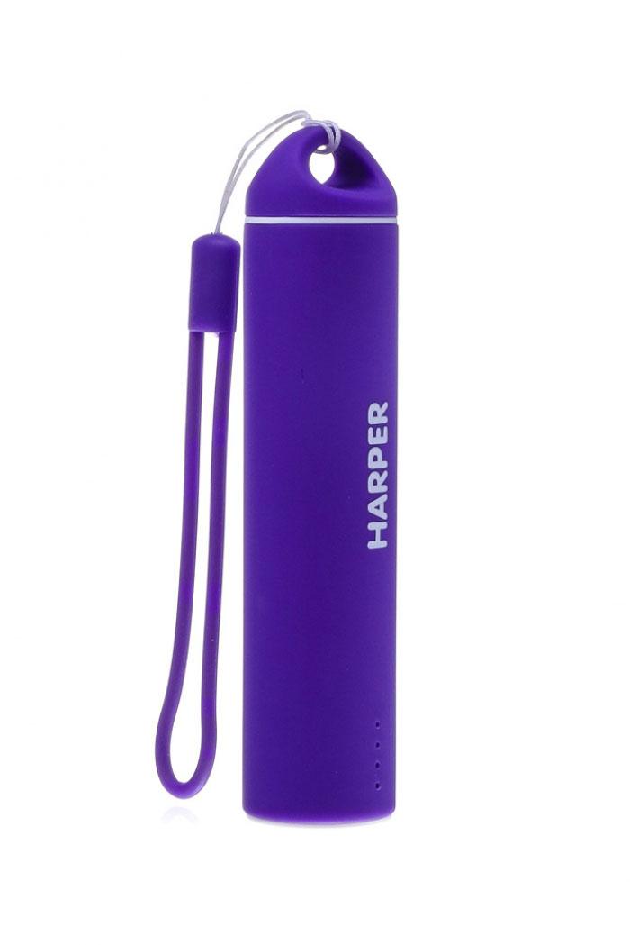 Harper PB-2602, Purple внешний аккумуляторPB-2602 PurpleБудь легким и ярким!Для молодых и энергичных представлен большой выбор вариантов дизайна и ярких цветов для активной жизни.Компактные размеры Harper PB-2602 позволяют без труда носить его как оригинальный аксессуар на сумке или рюкзаке. Размеры аккумулятора существенно меньше размеров стандартного смартфона. При этом, аккумулятор способен полностью зарядить мобильный телефон или смартфон.