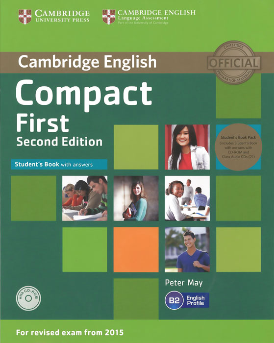 Compact First B2: Teacher's Book with Answers (+ CD-ROM and 2 CD) cambridge grammar for pet book with answers 2 cd