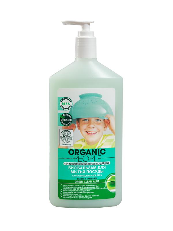 Бальзам-био для мытья посуды Organic People Алоэ, 500 мл071-4-1585Очень нежное и эффективное, экологически чистое моющее средство. Содержит 99,5% натуральных компонентов и обогащено органическим экстрактом алое вера и витамином Е, которые увлажняют и бережно ухаживают за кожей рук. Эффективно справляется с мытьем посуды, фруктов, овощей и детских игрушек. В отличие от большинства моющих средств не содержит опасных химических веществ.Состав: 30%: вода очищенная, 15 - 30 %: анионное поверхностно-активное вещество, 5 %: амфотерное поверхностно-активное вещество, неионогенные поверхностно-активные вещества, поверенная соль, бензиловый спирт, бензойная кислота, сорбиновая кислота, глицерин, лимонная кислота, экстракт алоэ, экстракт ромашки аптечной, экстракт лопуха, экстракт женьшеня, эфирное масло лемонграсса, CI 75120, CI 75810.Товар сертифицирован.Как выбрать качественную бытовую химию, безопасную для природы и людей. Статья OZON Гид