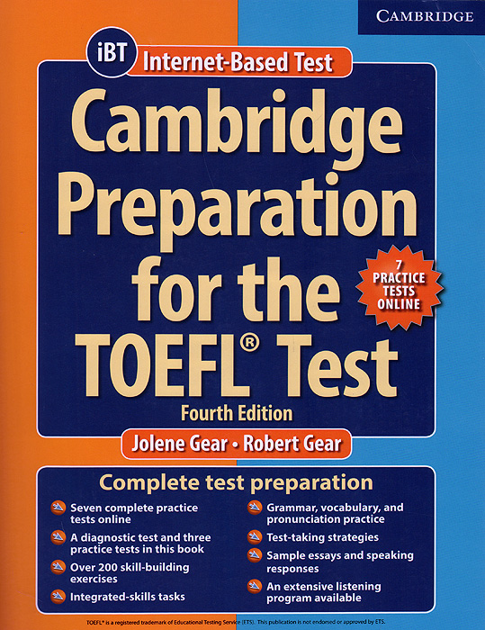 Cambridge Preparation for the TOEFL Test: Book with Online Practice Tests: Fourth Edition сумка the cambridge satchel