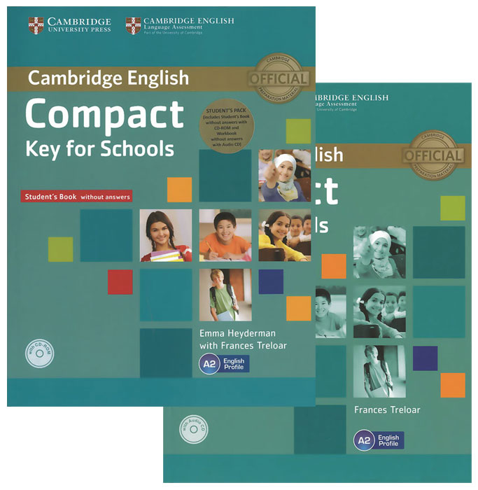 Compact Key for Schools: Level A2 (комплект из 2 книг + CD-ROM, CD) jane eyre level 5 cd