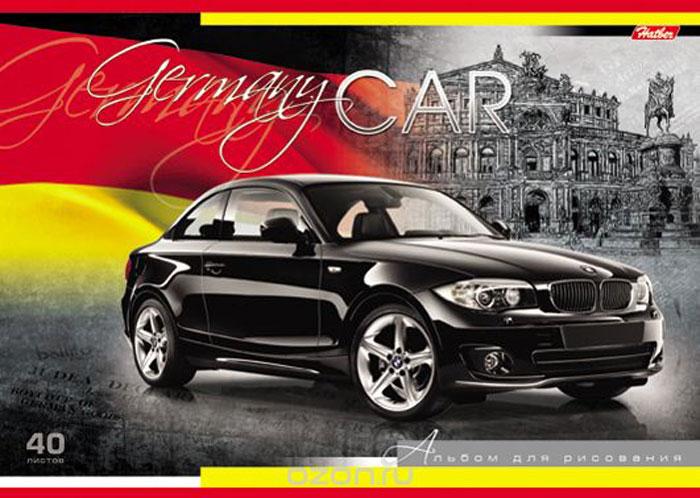 Альбом для рисования Hatber Country Cars. Germany, 40 листов hatber альбом для рисования райский сад 40 листов 14397