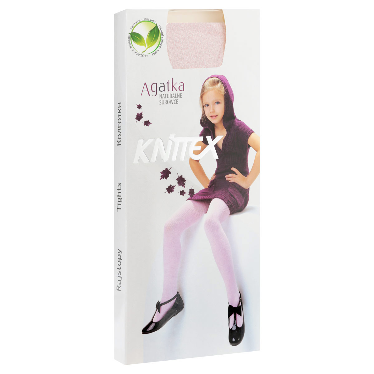 Колготки для девочки Knittex Agatka, цвет: светло-розовый. RDZAGATKA_2. Размер 104/110, 4-5 лет