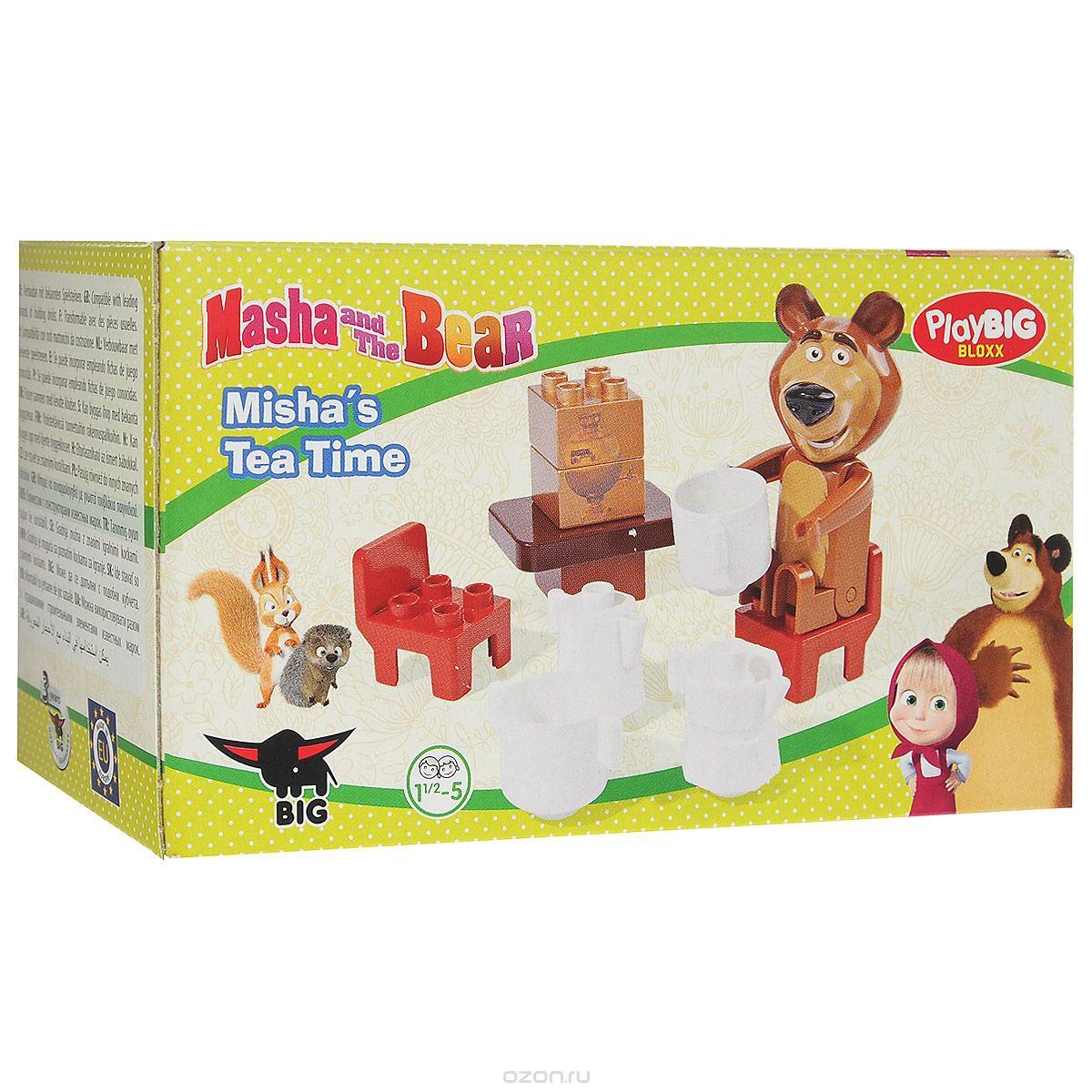Конструктор Play Big Маша и Медведь. Мишка на кухне, 11 элементов маша сергеева ваш здоровый ребенок