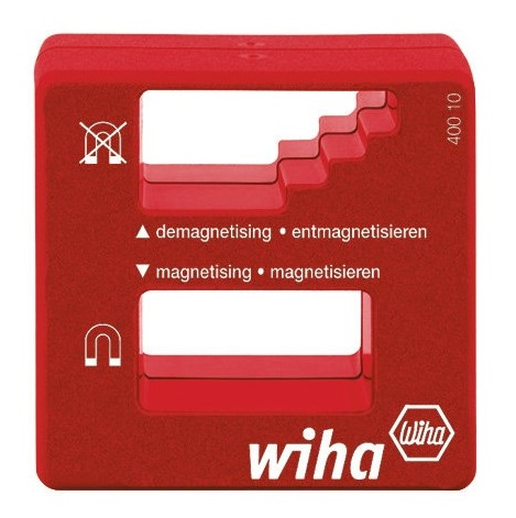 Намагничиватель SB Wiha 0256802568Намагничиватель применяется для намагничивания и размагничивания жал и подобных инструментов из стали.