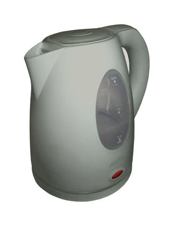 Smile WK 1304, Grey электрочайникWK 1304, Grey Электрический чайник Smile WK 1304, Grey с функцией поддержки постоянной t° украсит и семейное чаепитие, и большое торжественное застолье.Объем: 1.5 л Мощность: 2000 Вт Материал корпуса: Индикатор уровня воды Световой индикатор включения предупреждает о работе чайника Скрытый (плоский) нагревательный элемент из высококачественной нержавеющей стали уменьшает количество накипи Центральный контакт на подставке позволяет ставить чайник под любым углом и поворачивать на 360°Нейлоновый фильтр от частиц накипи Отсек в подставке для сетевого шнура Автоматическое отключение при закипании Защита от включения без воды и перегрева Бескабельный Дополнительно: автоматическое и ручное выключение, устройство открывания крышки, световая индикация закипания воды, функция поддержки постоянной t°