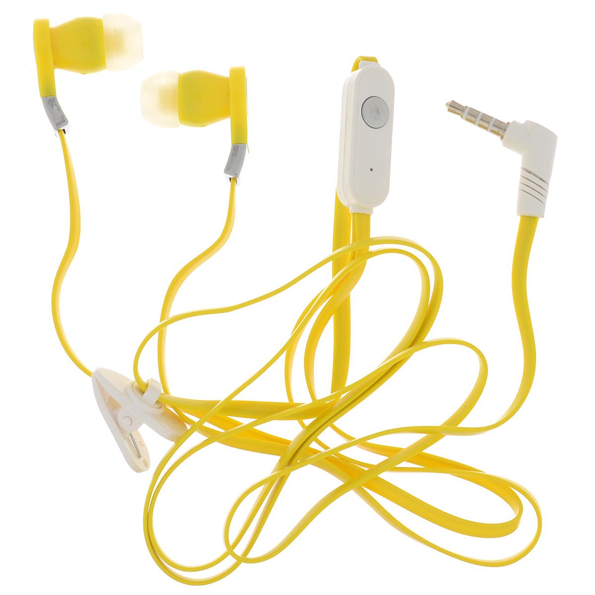 Harper HV-103, Yellow наушникиHV-103 yellowHarper HV-103 - компактные и недорогие внутриканальные наушники с функцией гарнитуры.Кабель длиной 1,2 метра идеально подходит для использования на улице.Встроенный пульт и микрофон предназначен для быстрого переключения между музыкой и вызовами.L-образный штекер для прочности и долговечности кабеля.В комплект входят мягкие силиконовые накладки 3 размеров для максимального комфорта.
