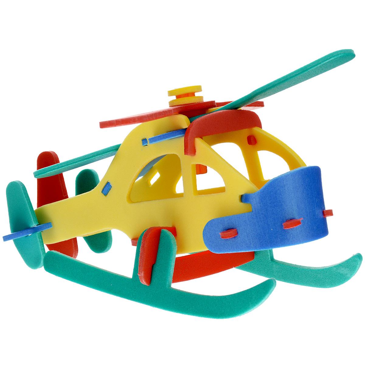 Флексика Мягкий конструктор Пассажирский вертолет флексика пазл для малышей геометрия цвет основы красный