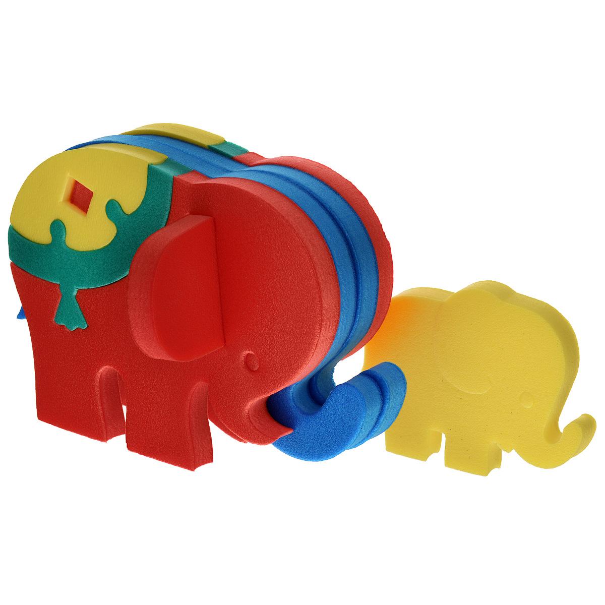 Флексика Мягкий конструктор Слоник флексика пазл для малышей геометрия цвет основы красный