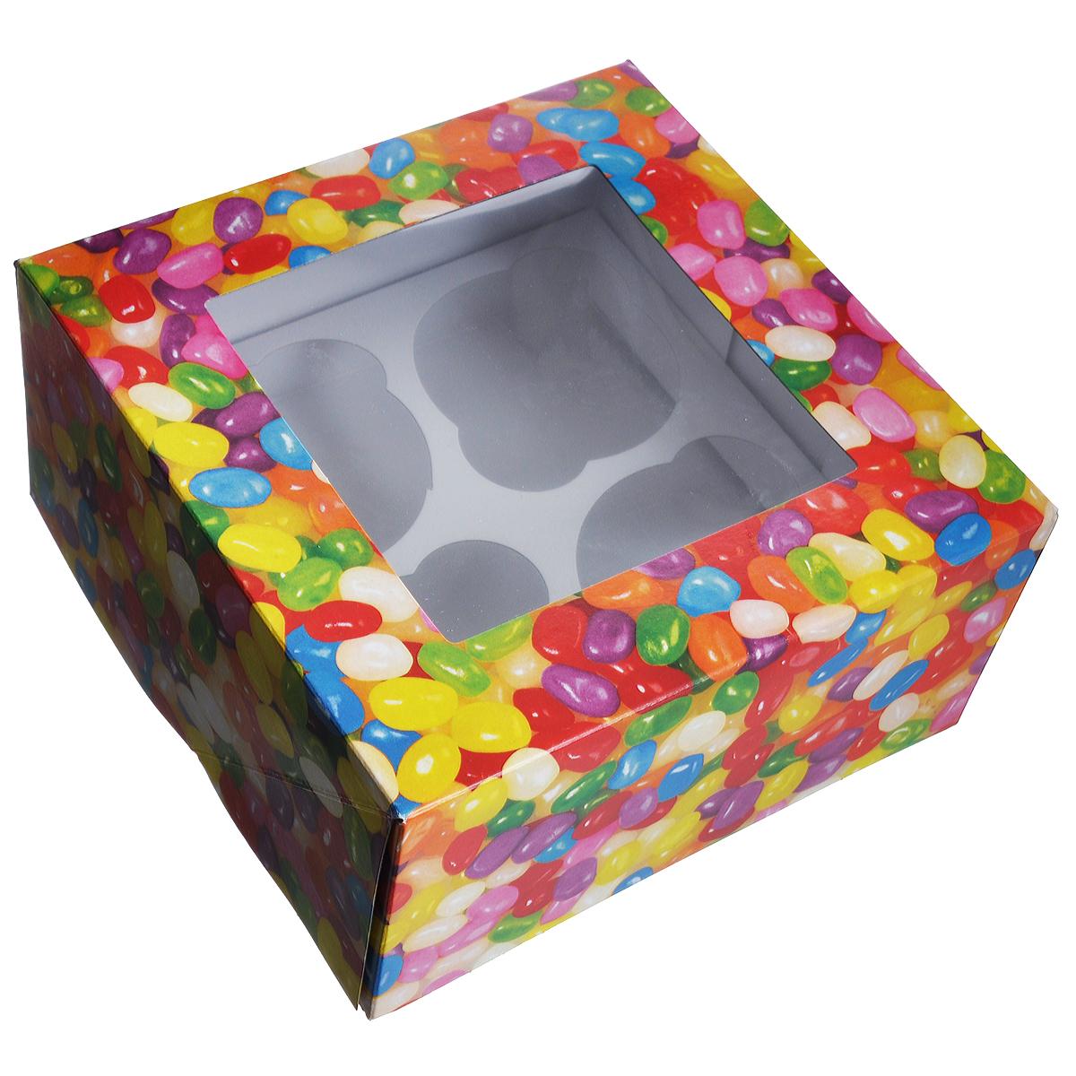 Набор коробок для сладостей Wilton Веселая фасоль, 15,8 см х 15,8 см х 7,6 см, 3 штWLT-415-2757Набор Wilton Веселая фасоль состоит из трех подарочных коробок, изготовленных из картона и предназначенных для упаковки кондитерских изделий. Каждая коробочка оснащена небольшим окошком, благодаря которому можно видеть содержимое.Коробка Wilton Веселая фасоль - идеальная подарочная упаковка для вашего сладкого подарка. Просто поместите внутрь пирожное, и удивительно красивый и вкусный подарок готов! Набор также подходит для транспортировки кондитерских изделий. Размер коробочки: 15,8 см х 15,8 см х 7,6 см.