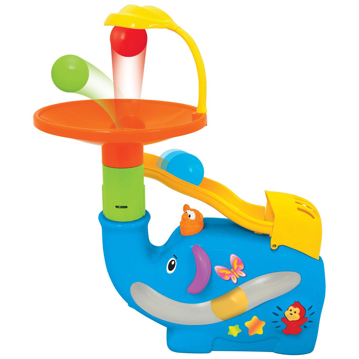 Kiddieland Развивающая игрушка Забавный слон с шарами kiddieland развивающая игрушка забавная камера