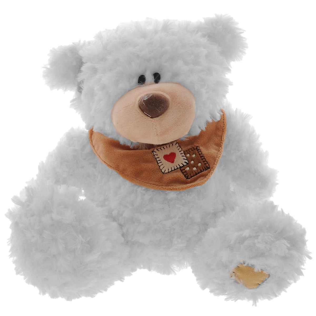 Plush Apple Мягкая музыкальная игрушка Медведь с шарфом, 25 см