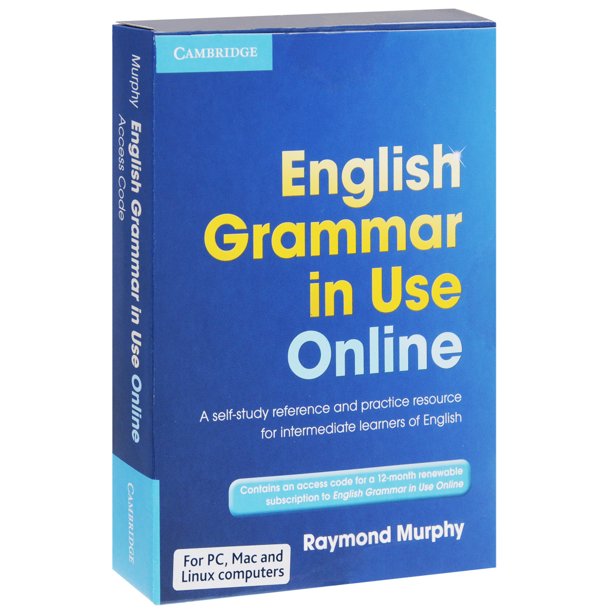 Access Code Card: English Grammar in Use Online: Access Code: A Self-Study Reference And Practice Resource for Intermediate Learners of English murphy r essential grammar in use 3rd edition classware for elementary students of english dvd rom
