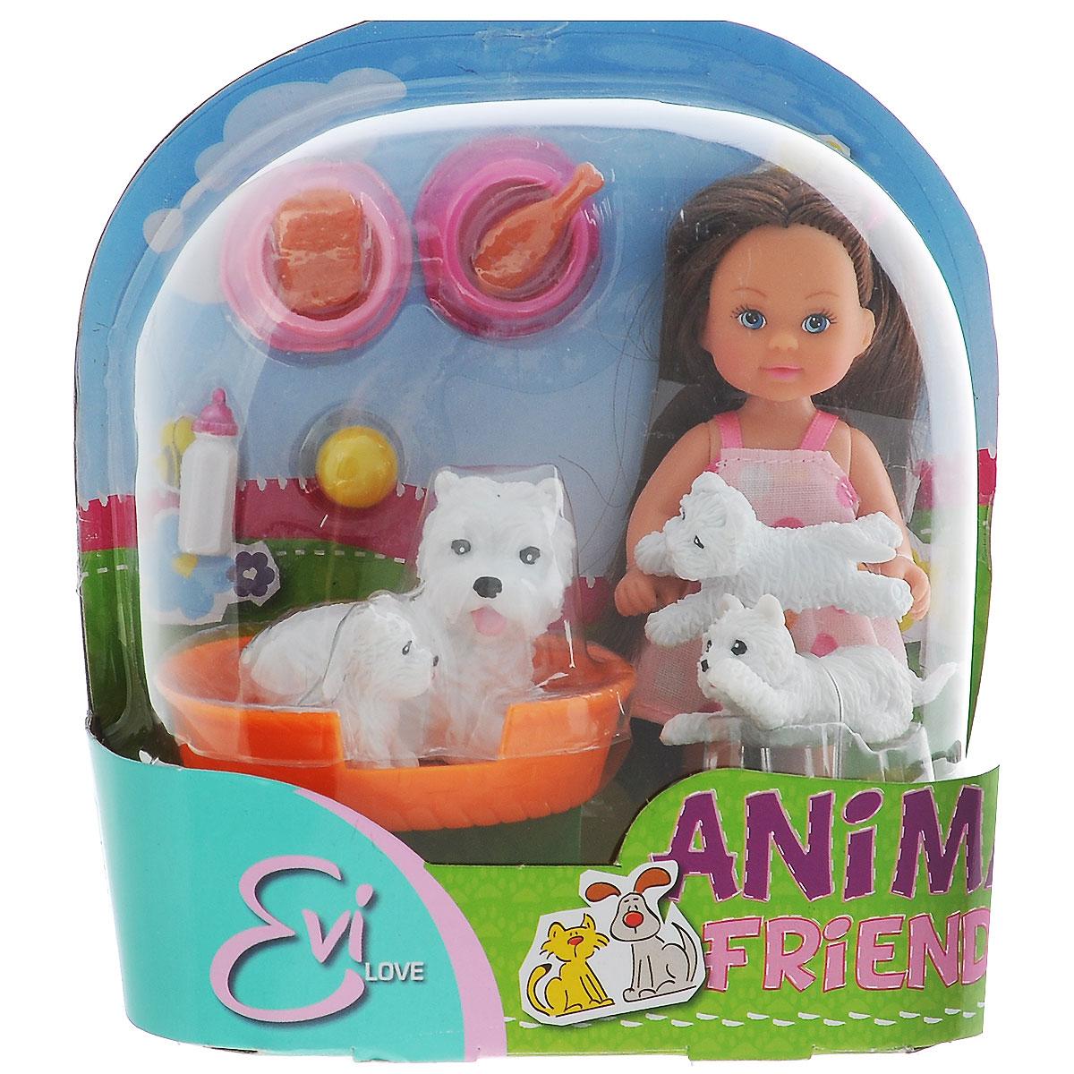 Simba Игровой набор Еви с домашними животными simba игровой набор с мини куклой evi love fairy carriage