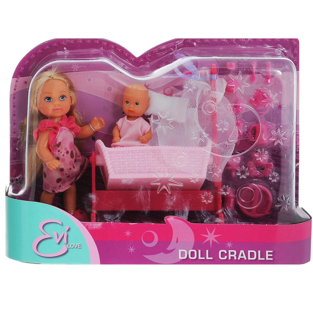 Simba Игровой набор Doll Cradle цвет розовый simba игровой набор с мини куклой evi love fairy carriage