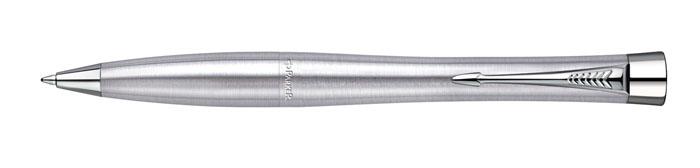 Parker Ручка шариковая Urban Metro Metallic CTPARKER-S0767120Шариковая ручка Parker Urban Metro Metallic CT из мужской коллекции Urban.Материал ручки - нержавеющая сталь, в отделке применяется хромирование. Вручке используются стандартные шариковые стержни Parker, в комплект поставкивходит один стержень синего цвета. Данный пишущий инструмент поставляется вфирменной картонной коробке, что делает его отличным недорогим подарком. Вкомплекте также идет гарантийный талон с международной гарантией на 2 года.Механизм поворотного действия Длина 13.6 см Диаметр (max) 12.5 мм Цвет серебристый Цвет отделки серебристый Особенности используются стандартные шариковые стержни Parker Стержень в комплекте синий, M (средний) Комплектация: 1 стержень в ручке, подарочная коробка, гарантийный талон
