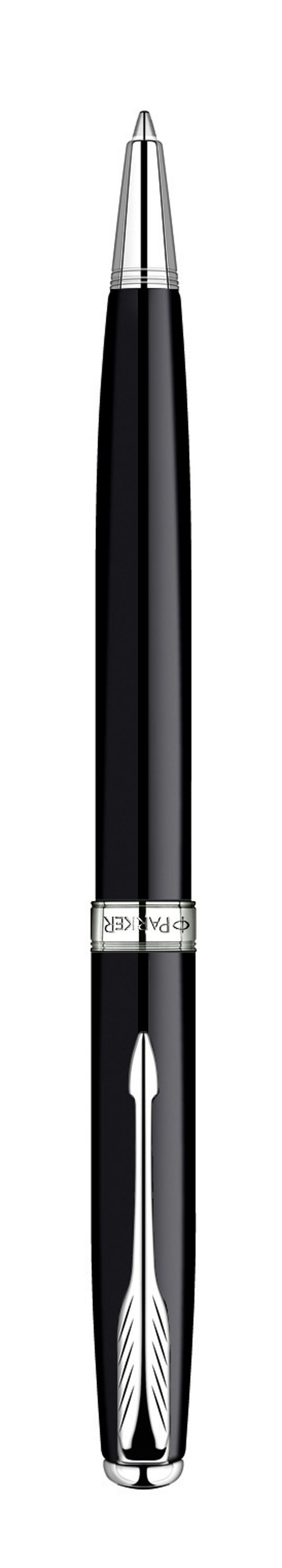 Parker Ручка шариковая Sonnet Black Laque CTPARKER-S0808830Вид нанесения: гравировка с заливкой цветом, гравировка с металлизацией, тампопечать, шильд, эмблема на торце ручкиГарантия 2 годаМеханизм ручек шариковая, поворотный механизмРазмер пишущего узла М (medium) - Средний 1 ммШариковая ручка, поворотный механизм Материал корпуса: Латунь Покрытие корпуса: Лак Материал отделки деталей корпуса: Посеребрение Цвет стержня: черный Выгравированный логотип PARKER на декоративном кольце Комплектация: Фирменная упаковка, руководство по эксплуатации с гарантийным талоном. Гарантия производителя: Два (2) года со дня покупки.