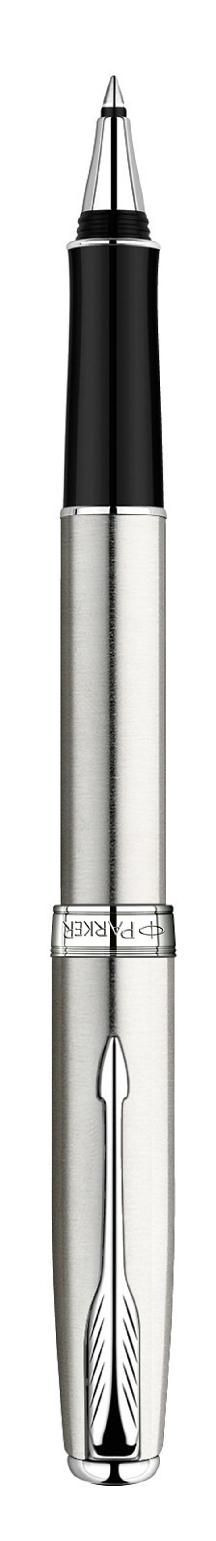 Parker Ручка-роллер Sonnet Stainless Steel СTPARKER-S0809230Механизм ручки: роллер со съемным колпачком Размер пишущего узла F (fine) - Тонкий 0.8 ммЦвет стержня: черныйВыгравированный логотип PARKER на декоративном кольце Комплектация: Фирменная упаковка, 1 стержень, руководство по эксплуатации сгарантийным талоном.
