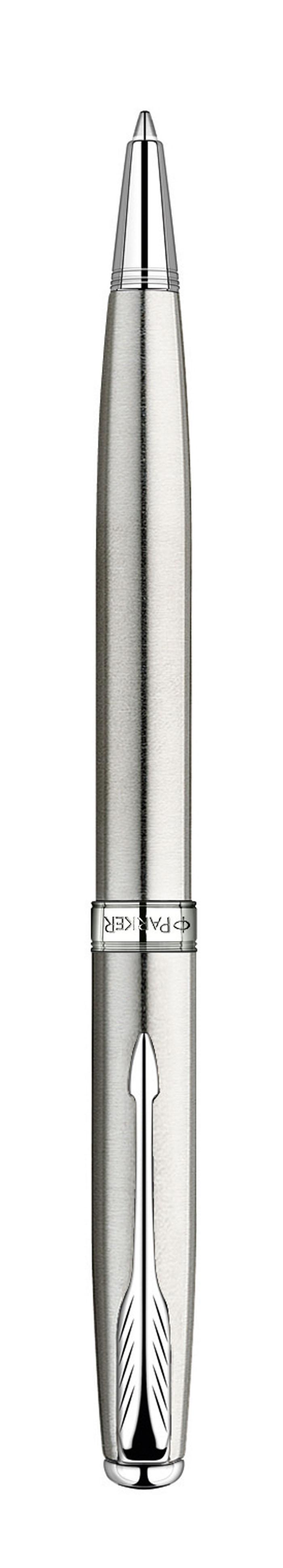 Parker Ручка шариковая Sonnet Stainless Steel СTPARKER-S0809240Шариковая ручка Parker Sonnet Stainless Steel CT из самой популярной коллекцииSonnet. Материал ручки - нержавеющая сталь, в отделке применяетсяхромирование. В ручке используются стандартные шариковые стержни Parker, вкомплект поставки входит один стержень черного цвета. Данный пишущийинструмент поставляется в фирменной подарочной коробке премиум-класса, чтоделает его превосходным подарком. В комплекте также идет гарантийный талон смеждународной гарантией на 2 года.Механизм поворотного действия Длина 13.2 см Диаметр (max) 10 мм Цвет серебристый Цвет отделки серебристый Особенности используются стандартные шариковые стержни Parker Стержень в комплекте черный, M (средний) Комплектация: 1 стержень в ручке, подарочная коробка, гарантийный талон